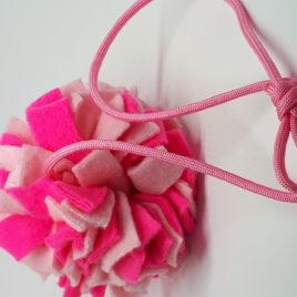 Schnüffelball mit Band, rosa