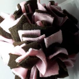 Schnüffelball  Mittel, rose-braun