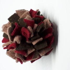 Schnüffelball  Mini, bordeaux-braun