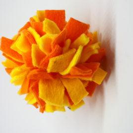 Schnüffelball  Mini, orange-gelb
